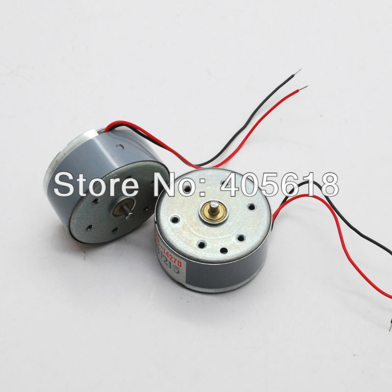 20pcs new dc 3v 0 6v 5v motor rf 300c 14270 low voltage for Low speed dc motor 0 5 6 volt