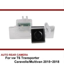 Per vw T6 Transporter/Caravelle/Multivan 2015 ~ 2018 di Visione Notturna di Inverso Dell'automobile di Backup Parcheggio Retrovisore Videocamera vista posteriore HD CCD
