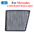 Car Parts Carbon Cabin Air Filter For Mercedes-Benz CLS C219 E-Class W211 S211 W219 E280 230 Accessories 2118300018, 0123200006