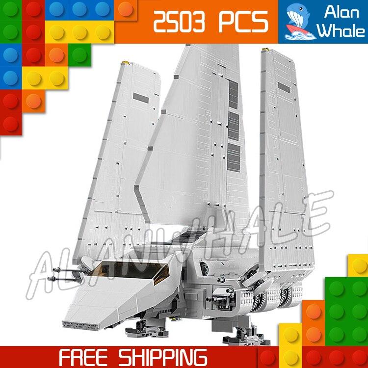 2503 pièces espace Wars univers nouvelle navette impériale 05034 Figure blocs de construction Kit cadeaux garçons jouets compatibles avec LegoING