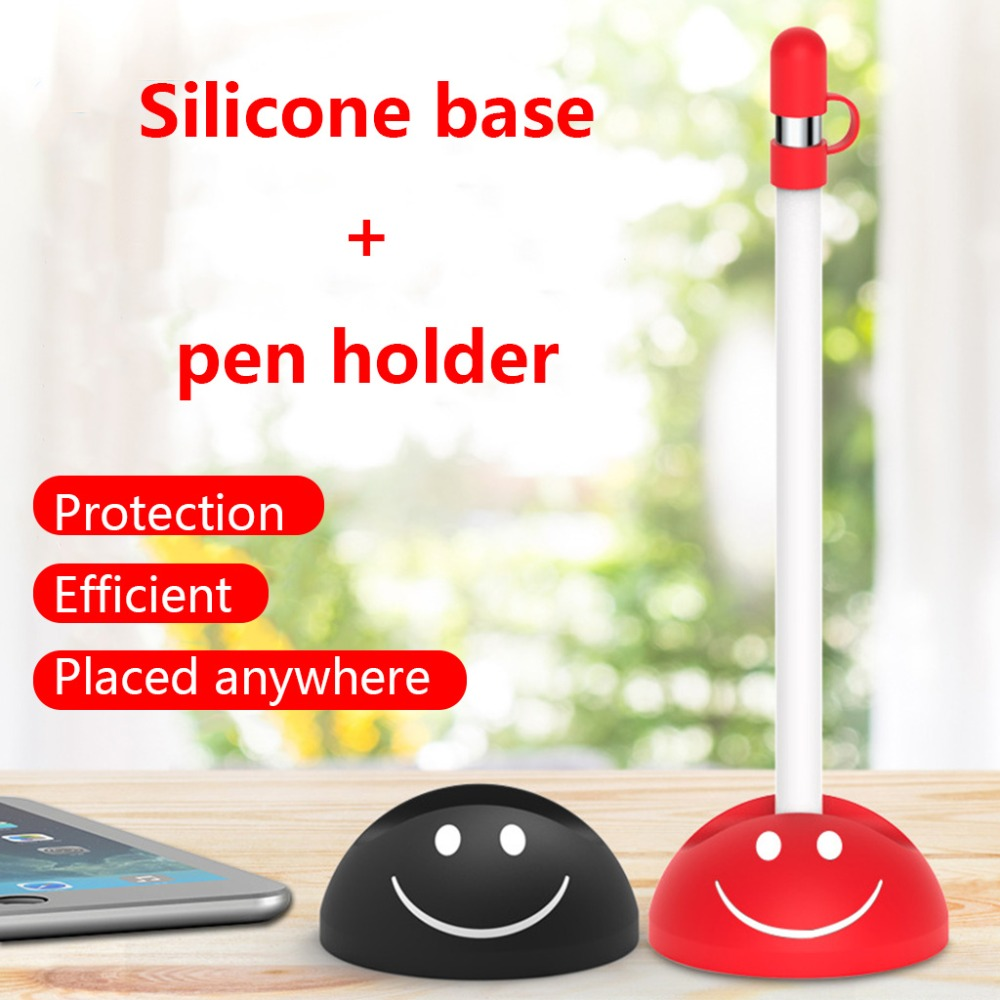 OPEN-SMART Tablet Pencil Holder Cap Soft Silicone Protective Case Anti-Lost Dock Stand Acc