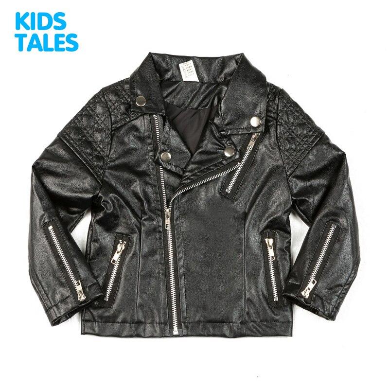 d49dea7d31b5 Spring Kids Jacket PU Leather Girls Jackets Clothes Children Outwear ...
