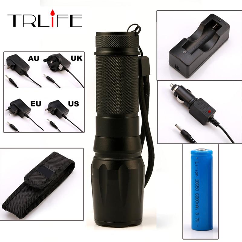 LED 6000Lumens Torch CREE XM-L2 Flashlight High Power Torch Zoomable Flash Light Torch LED Light Lamp nitecore mt10a 920lm cree xm l2 u2 led flashlight torch