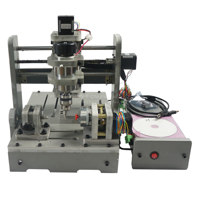 4 Axis CNC Wood Router DIY MINI Engraver Milling Machine cnc 2030 cnc wood router engraver 4 axis mini cnc milling machine with parallel port