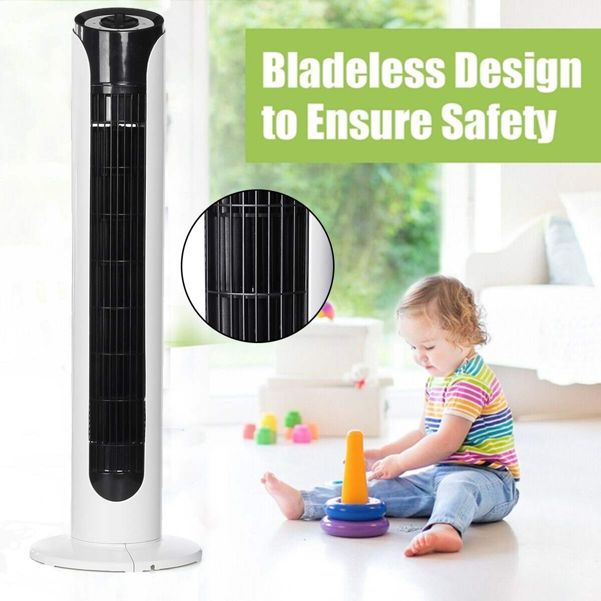 Air Conditioner Fan 80cm Bladeless Electric Air Cooler Cooling Living room BedroomHousehold Air Cooling Fan New Arrival 2019Air Conditioner Fan 80cm Bladeless Electric Air Cooler Cooling Living room BedroomHousehold Air Cooling Fan New Arrival 2019