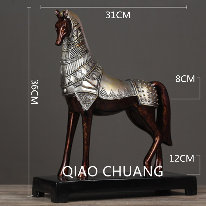 Chinese Style Simulation Bronze War Horse Creative Colophony Crafts Home Furnishing Articles G797