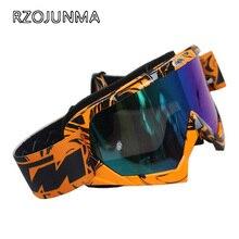 RZOJUNMA Motocross Occhiali di protezione di ATV DH MTB Dirt Bike Occhiali Oculos Antiparras Occhiali Motocross Occhiali Da Sole Per Il Motociclo Del Casco 100%