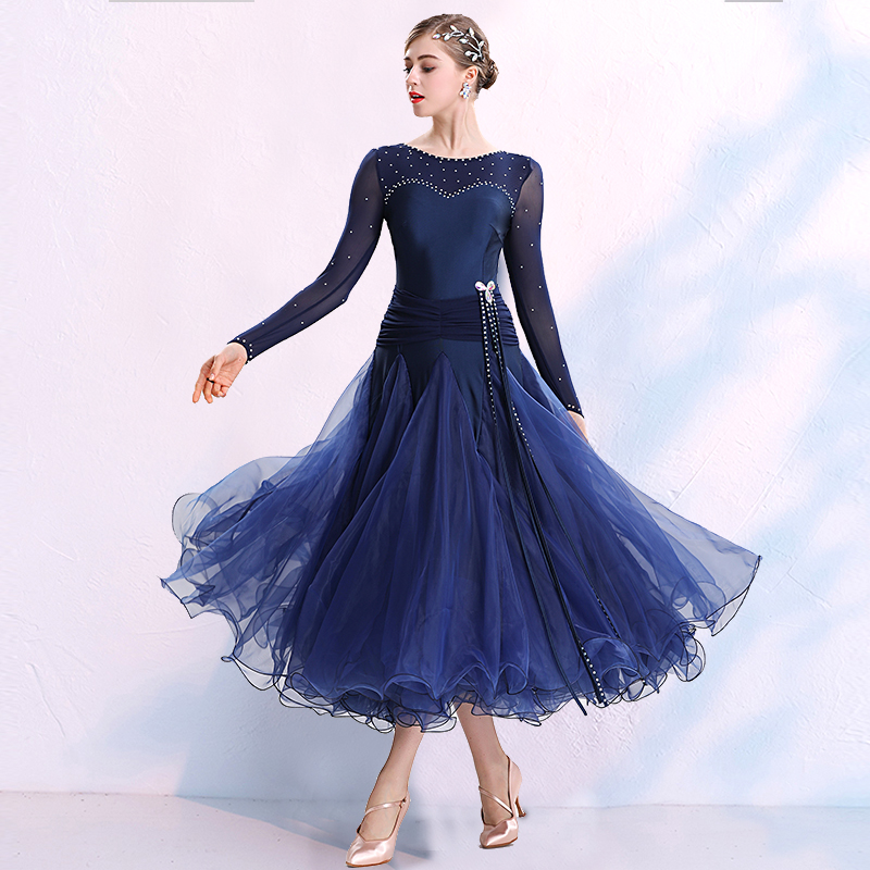 New Ballroom Waltz Modern Dance Dress Ballroom Dance Competition Dresses Standard Ballroom Dancing Clothes Tango Dress MQ295