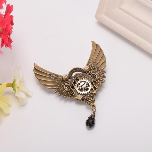 Стимпанк заколка крылья с шестерёнками в ассортименте