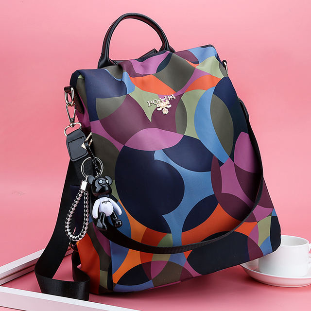 New Backpack Women Oxford Multifuction Bagpack Casual Anti Theft Backpack for Teenager Girls Schoolbag 2019 Sac A Dos mochila 4