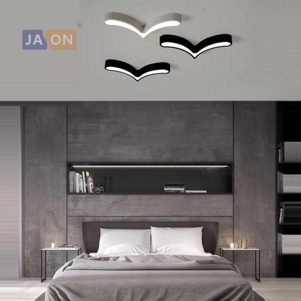 LED Modern Acryl Alloy Black White Sea Gulls DIY LED Lamp.LED Light.Ceiling Lights.LED Ceiling Light.Ceiling Lamp For Bedroom
