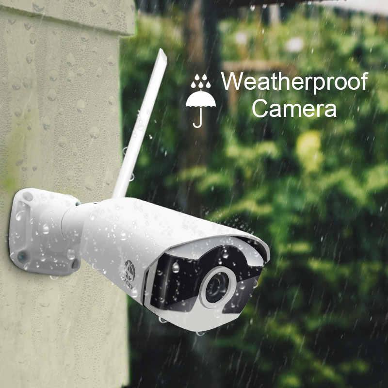 zestaw kamer 1080P bezprzewodowy system cctv 8ch zestaw monitoringu nvr dysk twardy odkryty IR Night Vision H.265 2MP IP Wi fi kamery zestaw 8CH system alarmowy do domu