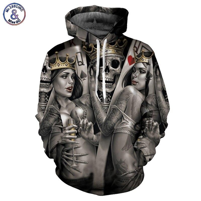 Mr.1991INC New Fashion Men/Women 3d Hoodies Print Metal Skulls Bride Groom Hooded Hoodies Thin 3d Sweatshirts Hoody Tops