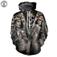 Mr 1991INC New Fashion Men Women 3d Hoodies Print Metal Skulls Bride Groom Hooded Hoodies Thin
