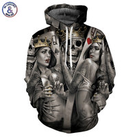 Mr 1991INC New Fashion Men Women 3d Hoodies Print Metal Skulls Bride Groom Hooded Hoodies Thin