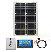 20W 12V Mono Solar Panel Battery Charging Kit Charger Controller Boat Caravan Home Outdoor
