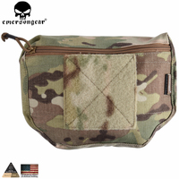 EMERSONGEAR Genuine Multicam Tropic Arid Black Armor Carrier Velcro Mounted Drop Molle Tactical Pouch For AVS
