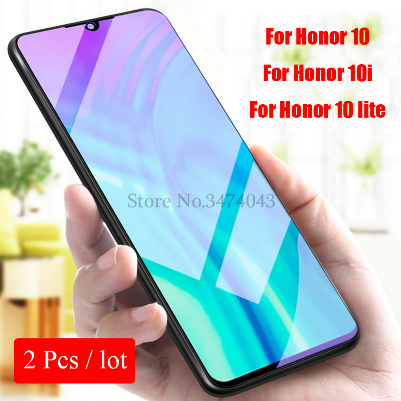 Image 2 - 2Pcs Tempered Glass For Huawei Honor 10i 10 lite Full Protective Film Screen Protector For Huawei Honor 10 lite 10i Glass Case-in Phone Screen Protectors from Cellphones & Telecommunications