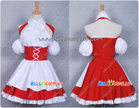 Japanese Anime Outfit Chobits Cosplay Chii Red Maid Dress H008