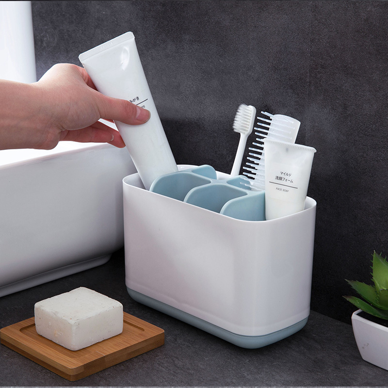 Multi-funct Electric Toothbrush Draining RackToothpaste Holder Bathroom Shelf Kitchen Soap Cleaning Brush Storage Rack image