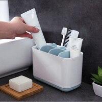 멀티 funct 전기 칫솔 배수 랙 치약 홀더 욕실 선반 주방 비누 청소 브러시 스토리지 랙|칫솔 & 치약 걸이|홈 & 가든 -