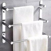 Custom 50 40cm Towel Rack 304 Stainless Steel Towel Ladder Modern Towel Bars Bathroom Towel Rack 3 layers wall mount