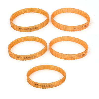 5 Pcs 10mm Width Electric Planer Part Drive Belt Band Apricot For Hitachi F20A