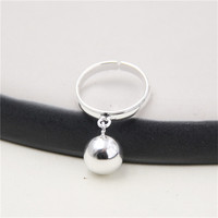 JINSE Round Ball Charms 925 Sterling Silver Vintage Anillos Male S925 Thai Silver Rings For Women