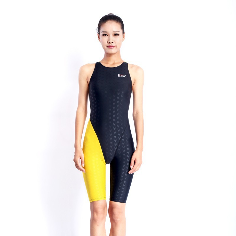 HXBY swimwear girls racing swimsuits sharkskin professional swimsuits knee one piece competition swim suits one piece 9