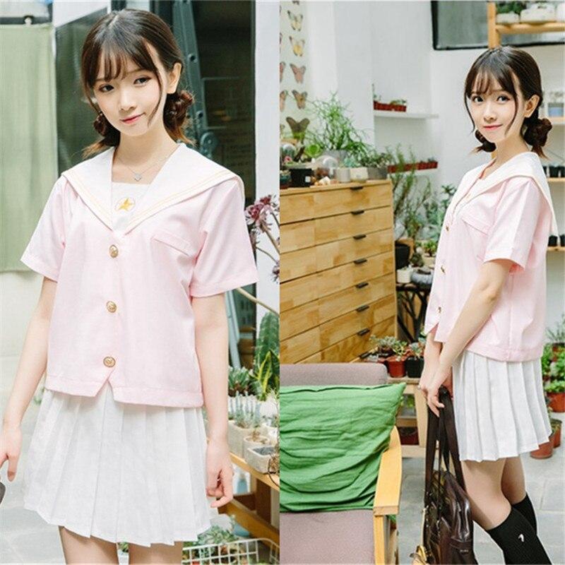 Preppy école fille mode Performance uniforme Lolita col marin chemise + jupe mignon uniformes scolaires OY-G1031