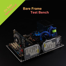 QDIY PC-D60 On Sale Personalized Transparent Acrylic Wide Open Standard ATX Chassis Nude Platform Test Bench Computer Case black diy personalized acrylic computer chassis rack desktop pc computer case for atx mainboard motherboard