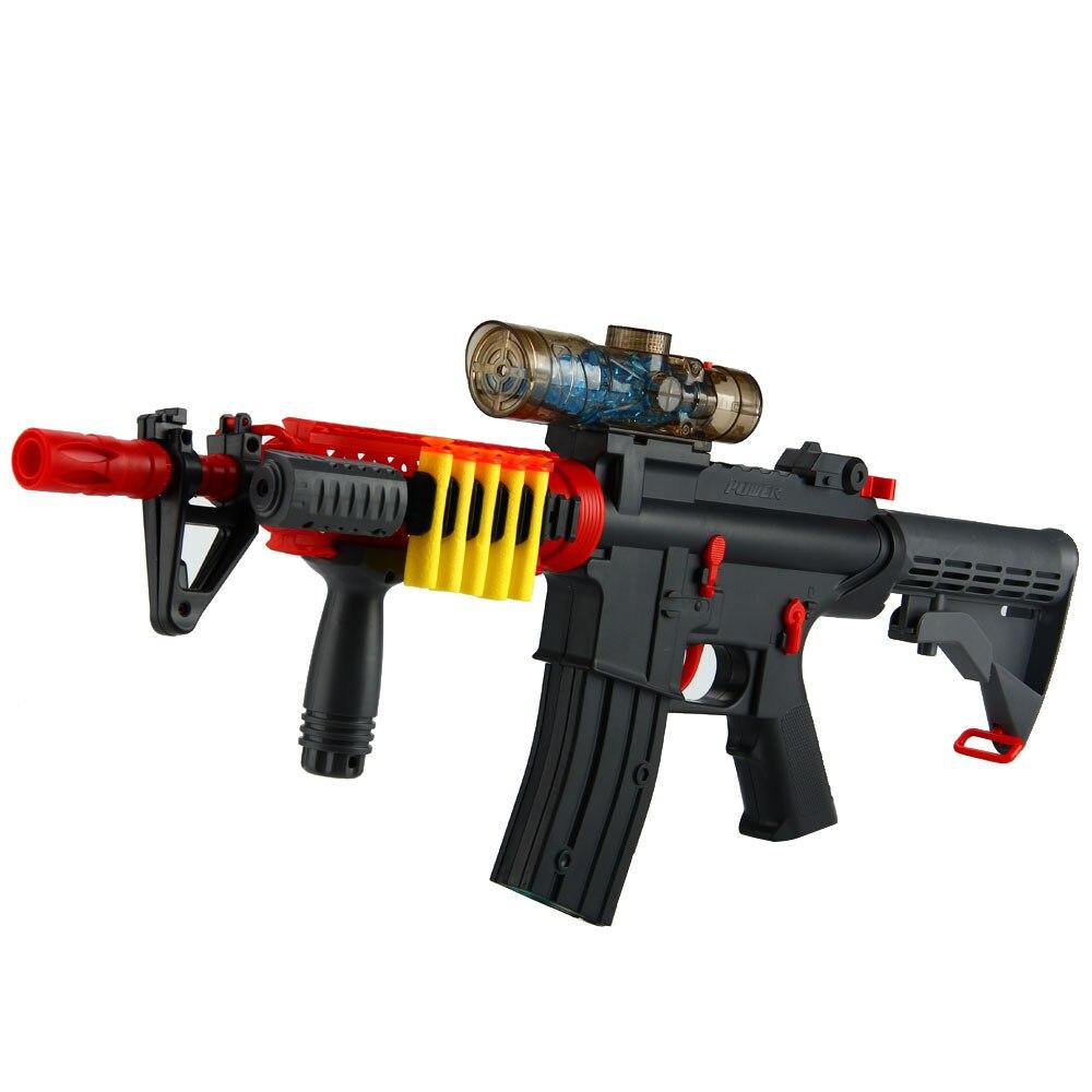 Jouet de pistolet à eau à balle molle électrique Enjoybay pistolet à eau en plein air pour enfants garçons/filles jouet de pistolet à balle en cristal d'eau Rechargeable - 2