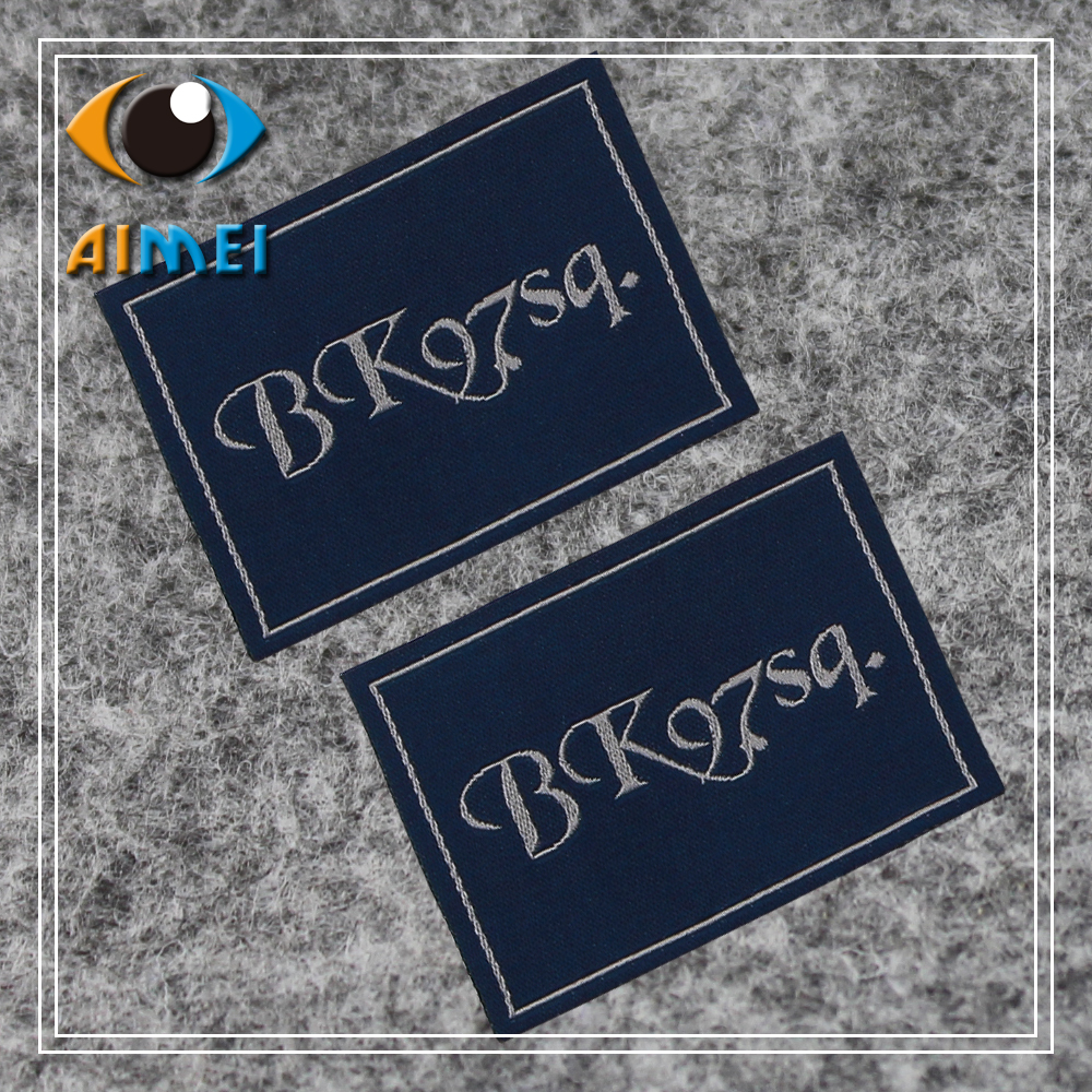 customize offwhite clothing labels for for handwork Customized garment tags sewing accessories embroidered label with own
