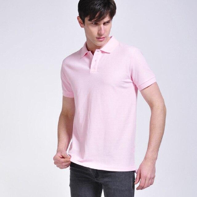 Высокого класса с коротким рукавом хлопок мужчины футболка поло лето-мужчин тис Soild тонкий высокое качество человек с отложным воротником рубашки поло горячей вершины