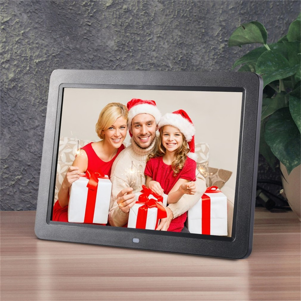 12 Wide Screen HD LED Digital Photo Frame 1280 * 800 Electronic Picture Frame MP3 MP4 Player Clock with Stereo Speakers free shipping dhl 15 hd 15inch tft lcd 1280 800 digital photo frame picture album clock mp3 mp4 movie ad player for menu sign page 2