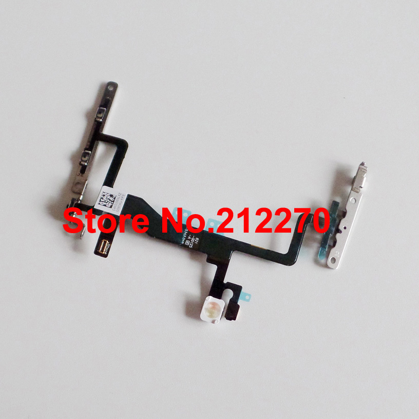 YUYOND Original New Power Volume Button Microphone Flex Cable With Metal Bracket For iPhone 6S 4