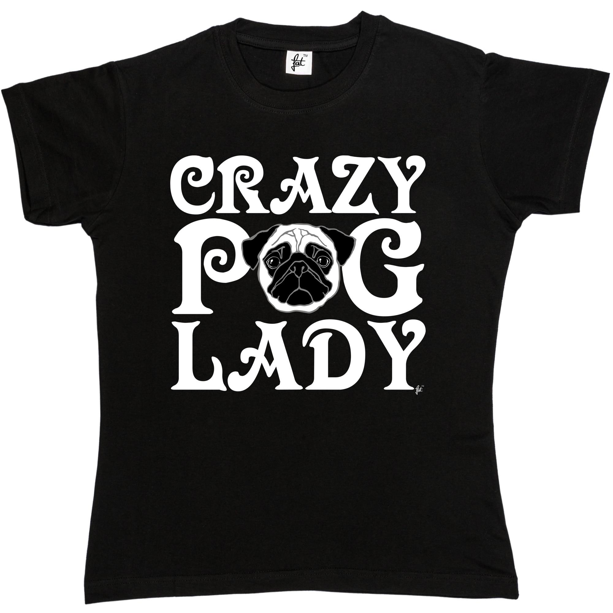Desain t shirt unik - Gila Woof Cinta Pugs Pug Wanita Womens T Shirt Mode Cotton Merek Top Tops Unik Desain T Shirt Lucu Katun Streetwear