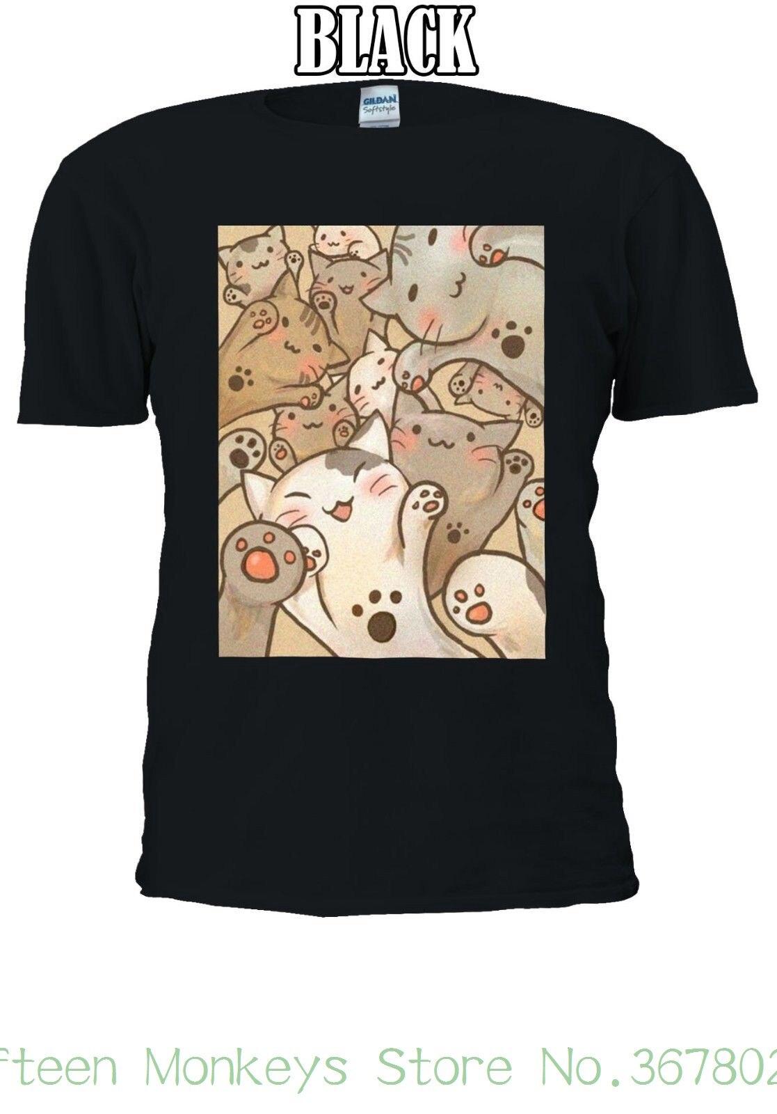Womens Tee Cutie Cats Japanese Manga Anime T-shirt Men Women Unisex 2438 Shirt Sexy Sexy At Any Cost Home