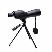 Черный 20-60x60 Зрительная труба водонепроницаемый монокулярный телескоп с увеличением кемпинга охоты Birdwatch оптика компактная Лупа с штативом