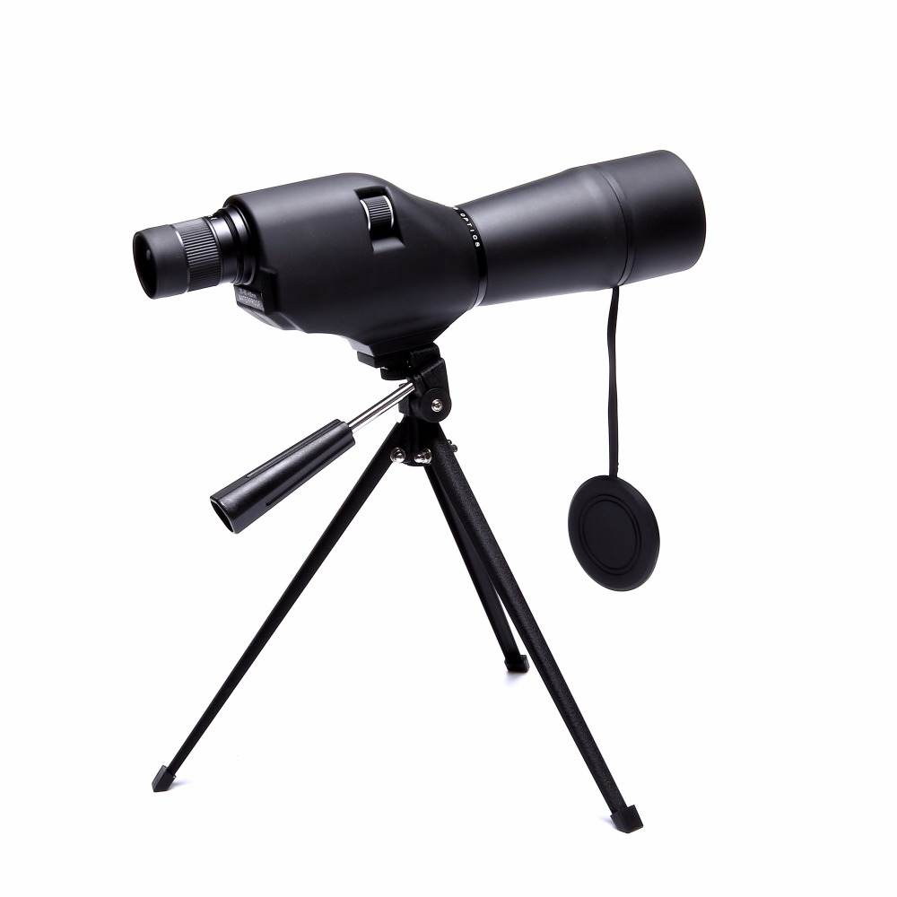 Black 20-60x60 Spotting Scope Waterproof Monocular Telescope Zoom Camping Hunting Birdwatch Optics Compact Magnifier with Tripod 15 45x60 spotting scope waterproof telescope 60mm 15 45x zoom birdwatch long range hunting monocular with tripod mount