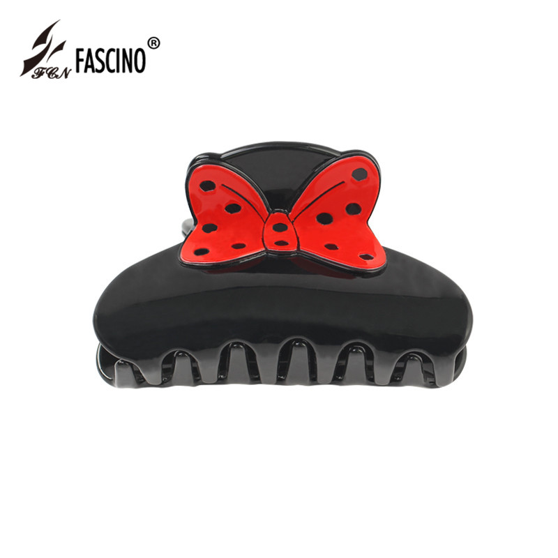 2018 New Design Fashion Large Acrylic Cute Bow Hair Jewelry Accessories Hair Claws Jaw Clips for Women Girls Headwear Tiara