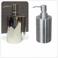 Free Shipping Stainless Steel 304 Luxury Bathroom Accessory Green Soap Dispenser Brushed Or Mirror Polish For