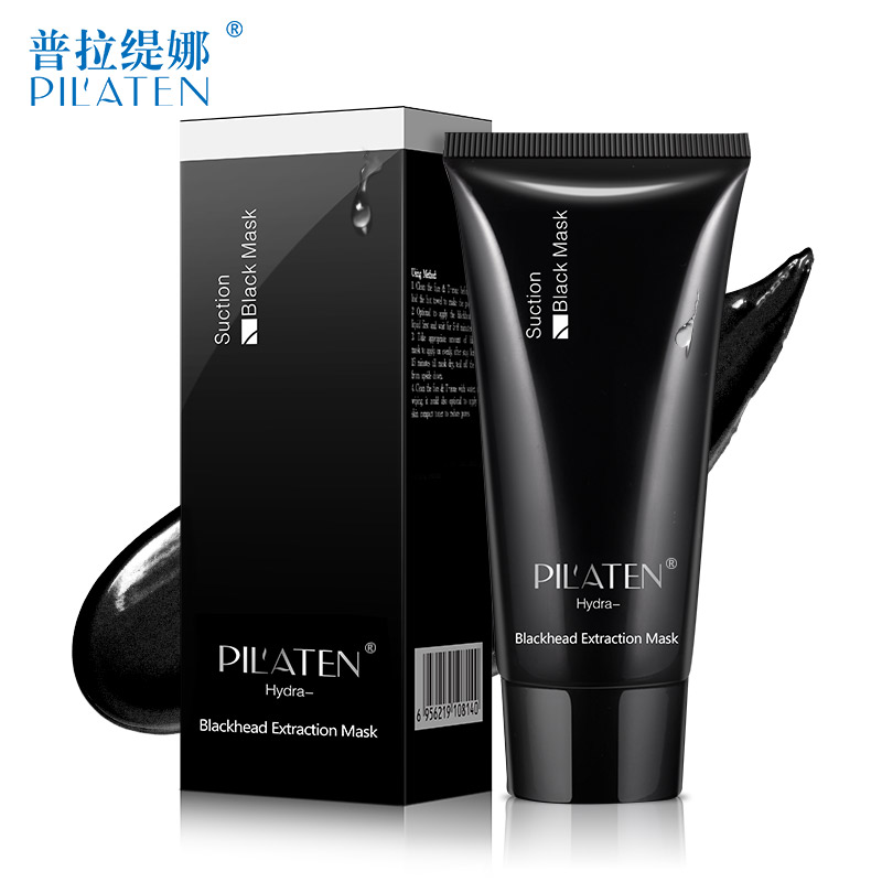 1pc Pil'aten English package acne blackhead removal deep cleansing tearing mask pilaten blackhead remover black mask face mask