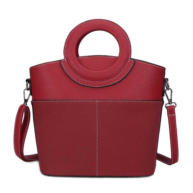 2 sets Women Handbag pu Leather Women Shoulder Bags Famous Brand Designer Women Messenger Bag Ladies Casual Tote Bags sac a main