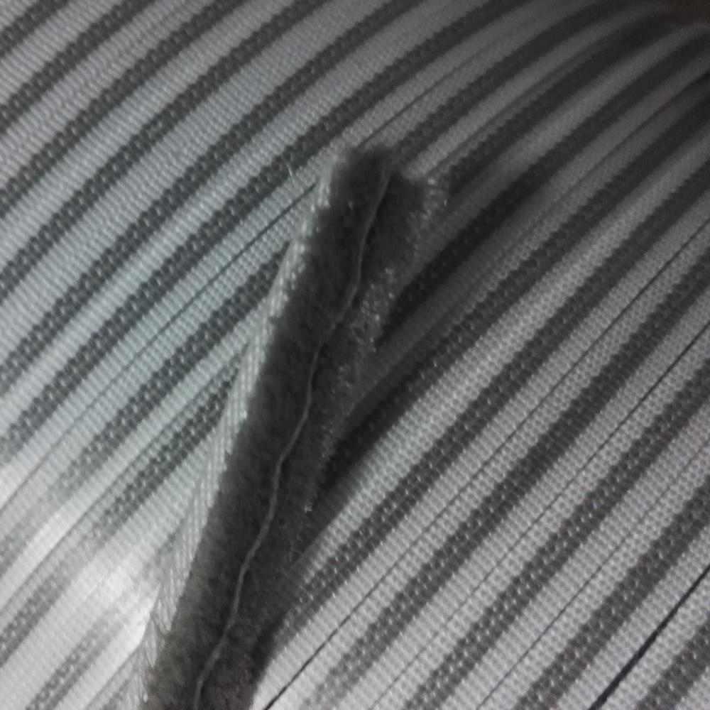 Felt Draught Excluder Wool Pile Weather Strip Sliding Sash Screen Window Door Brush Seal + Tissue Waterproof 6.7 x 7mm 10m Gray