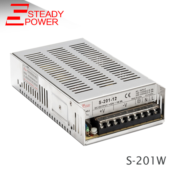 CE approved S-201W AC Tto <font><b>DC</b></font> <font><b>converter</b></font> <font><b>5v</b></font> 40a / <font><b>12v</b></font> 16.5a / 24v 8.3a / 48v <font><b>4a</b></font> smps power supply circuit image