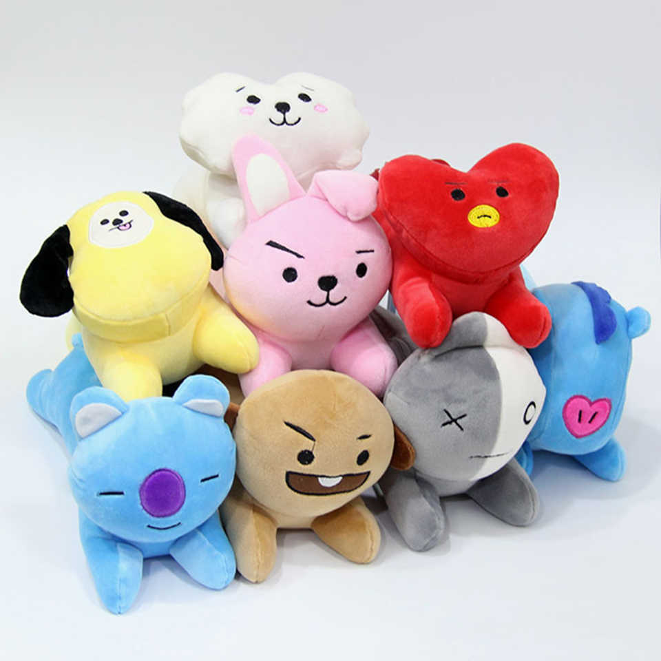26866de05cb2 10PCS lot BT21 BTS Bangtan Boys Kawaii TATA CHIMMY SHOOKY RJ Plush Pencil  Case Soft