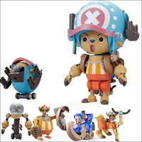 5pcs/set anime One piece figure tony tony chopper big size Combine robot 2 generations assembly model toy for christmas gifts