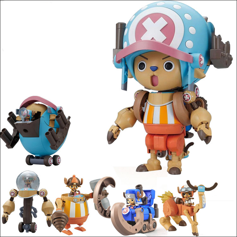 5pcs/set anime One piece figure tony tony chopper big size Combine robot 2 generations assembly model toy for christmas gifts цена