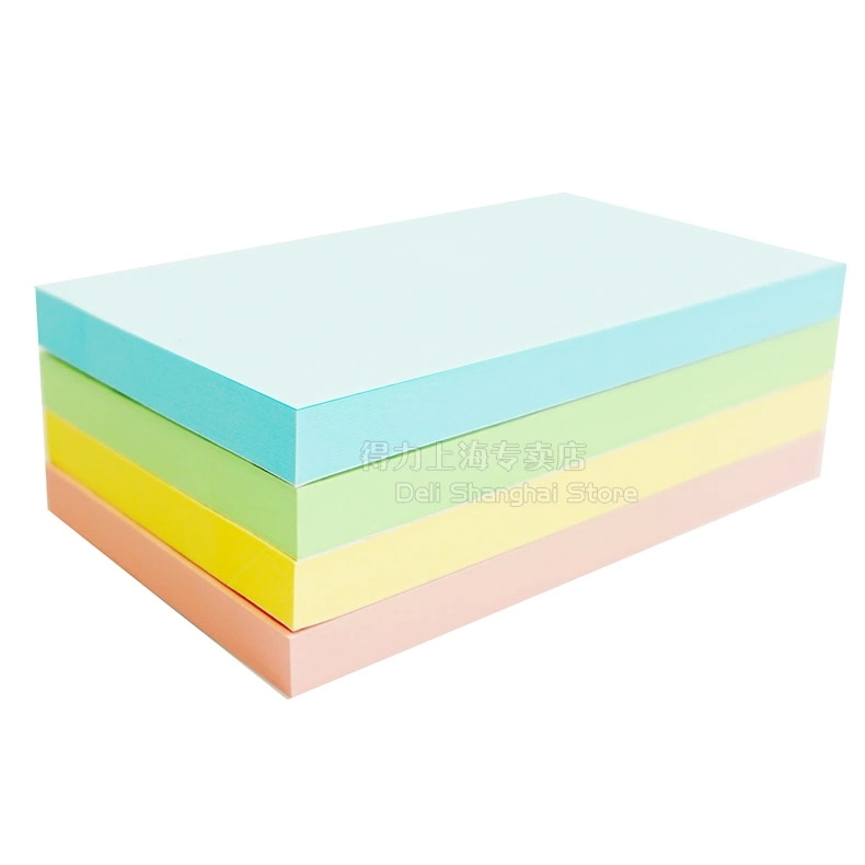 1 pack memo 100 sheets pads for office stickers self-adhesive sticky notes big size 76x126mm 3x5 post it Deli 7739 plastic self adhesive sticky notes memo pad notebook category label page index tag post planner stickers office school supply